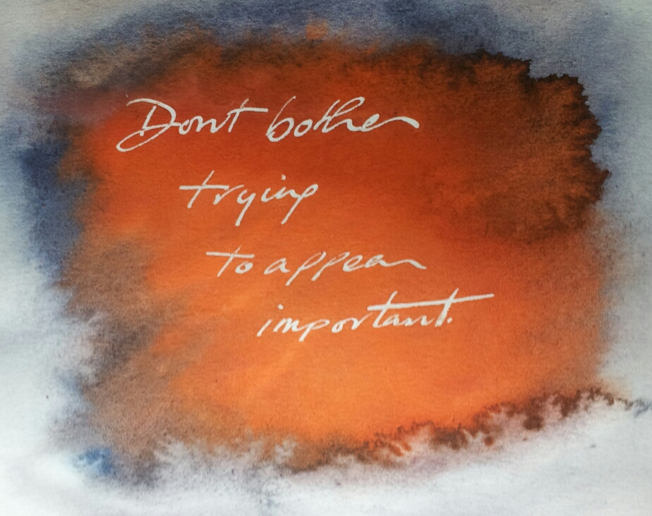 Don't Bother - Handwriting print by Lee Devonish, 2014.
