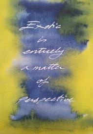 Exotic. Handwriting print by Lee Devonish, 2014