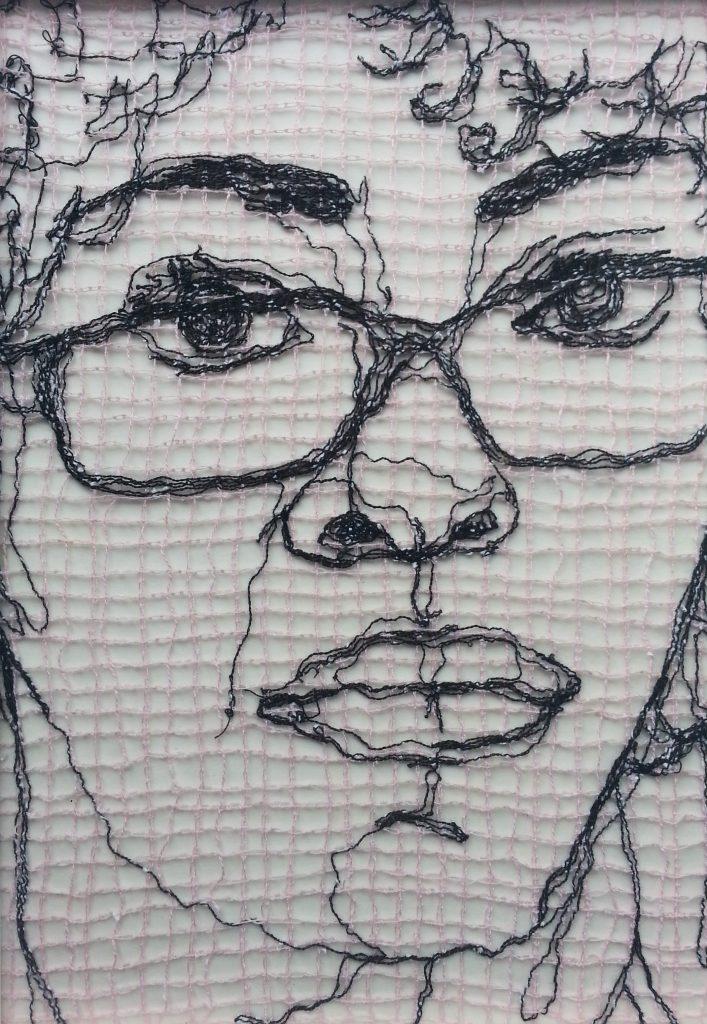 Precedent, thread drawing by Lee Devonish