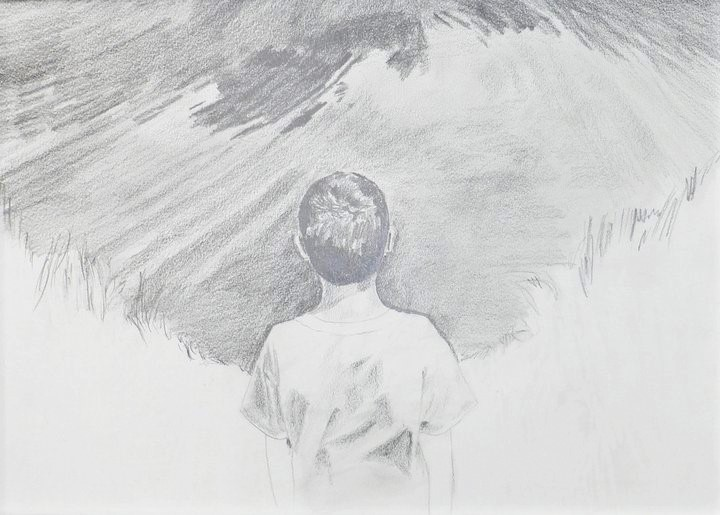 Perspective, graphite on paper drawing by Lee Devonish, 2011