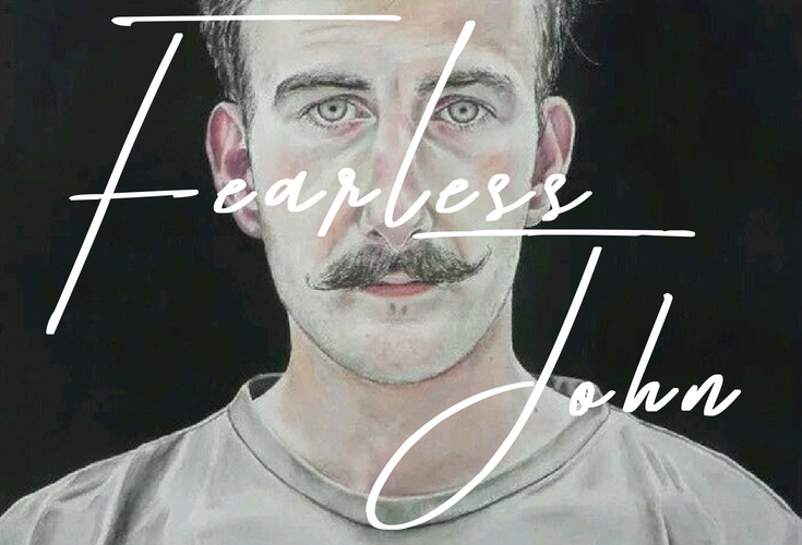 Fearless John, watercolour painting by Lee Devonish, 2011 | handlebar moustache painting | watercolor portrait of a man