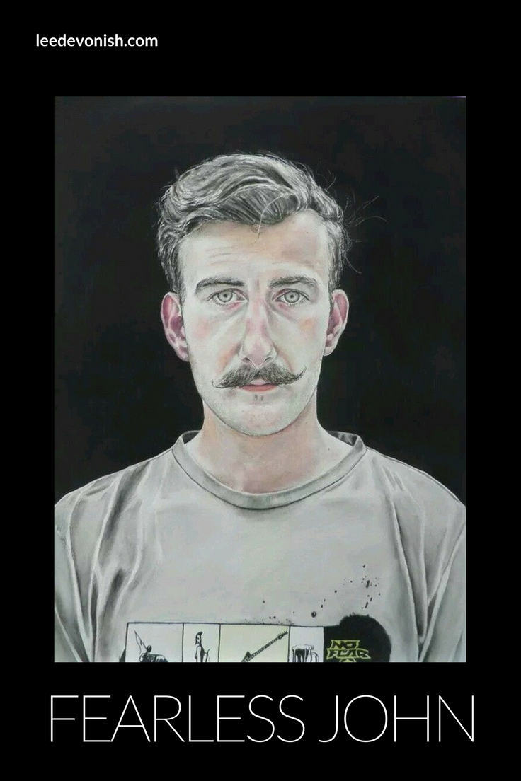 The short story behind this watercolour painting titled Fearless John, 2011.
