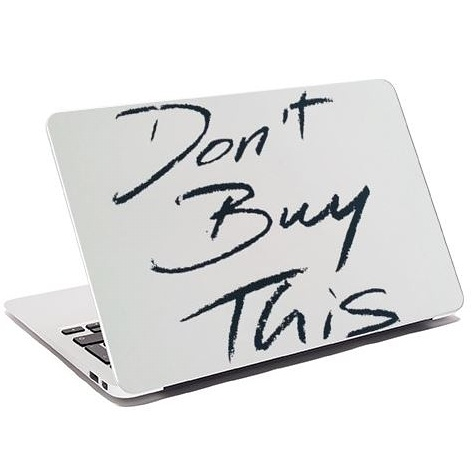 Don't Buy This Laptop Skin
