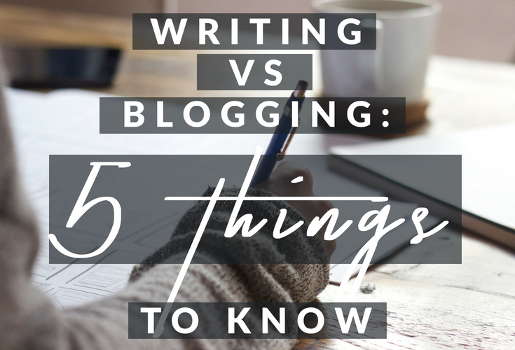 Blogging VS Writing: what's the difference? #writingvsblogging #bloggingforwriters #bloggingforauthors