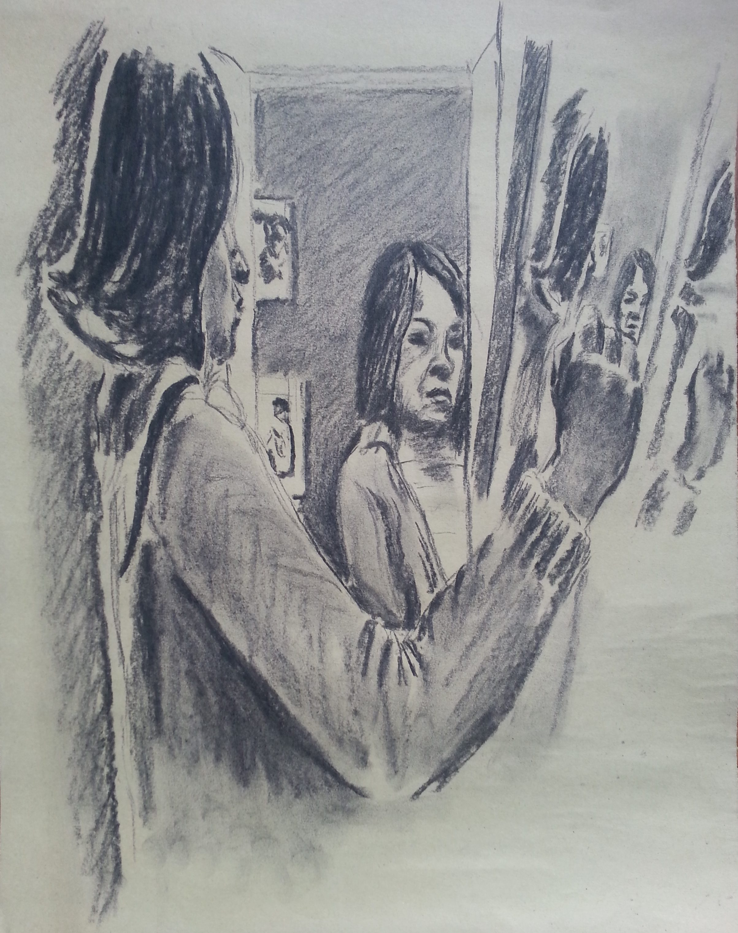 Drawing reflected in a mirror. Lee Devonish.
