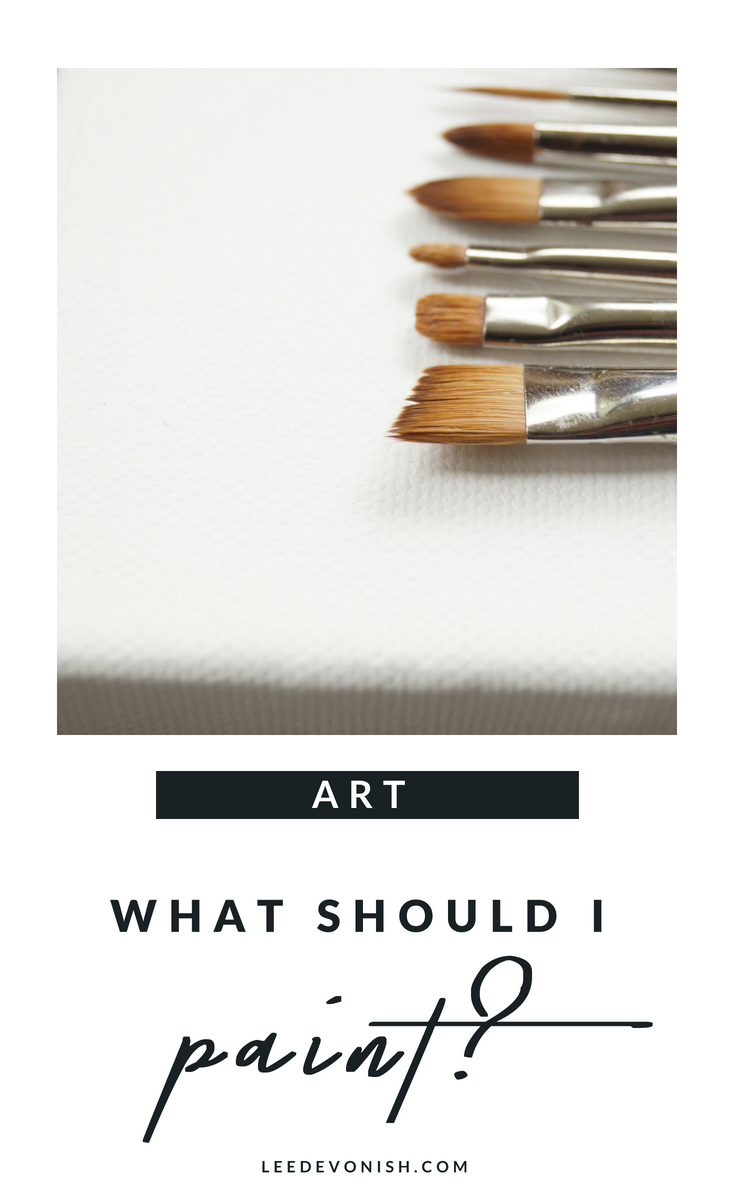 "If you've ever asked, ""what should I paint?"", you're not alone. For some artists, choosing subject matter is easy, and for others it isn't."