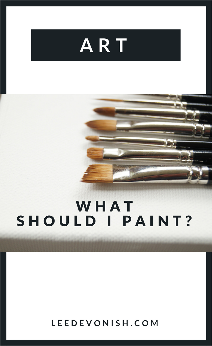 "For some artists, choosing subject matter is easy, and for others it isn't. If you've ever asked, ""what should I paint?"", you're not alone."
