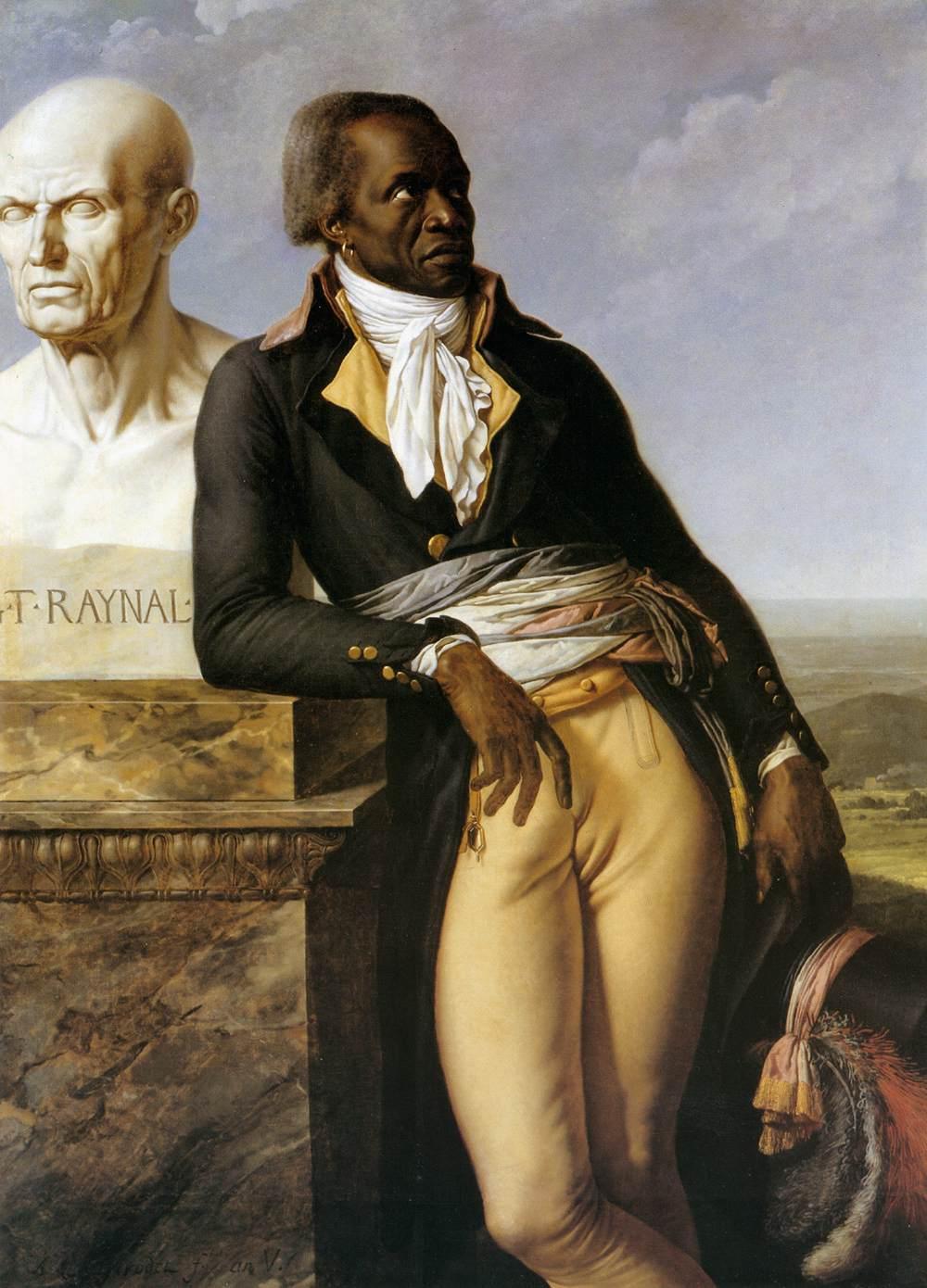 Portrait of Jean Baptiste Belley.  An historical antecedent to work by Barkley L. Hendricks.