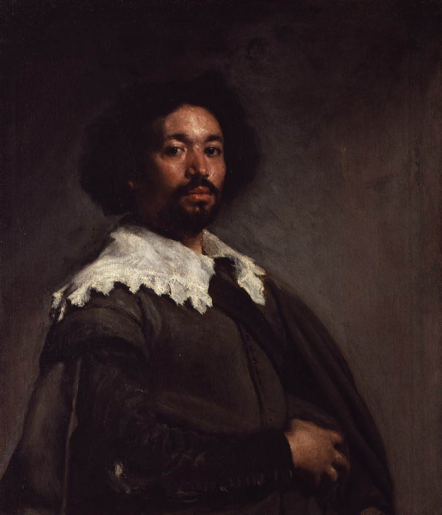 Juan de Pareja by Diego Velazquez. An historical antecedent to work by Barkley L. Hendricks.