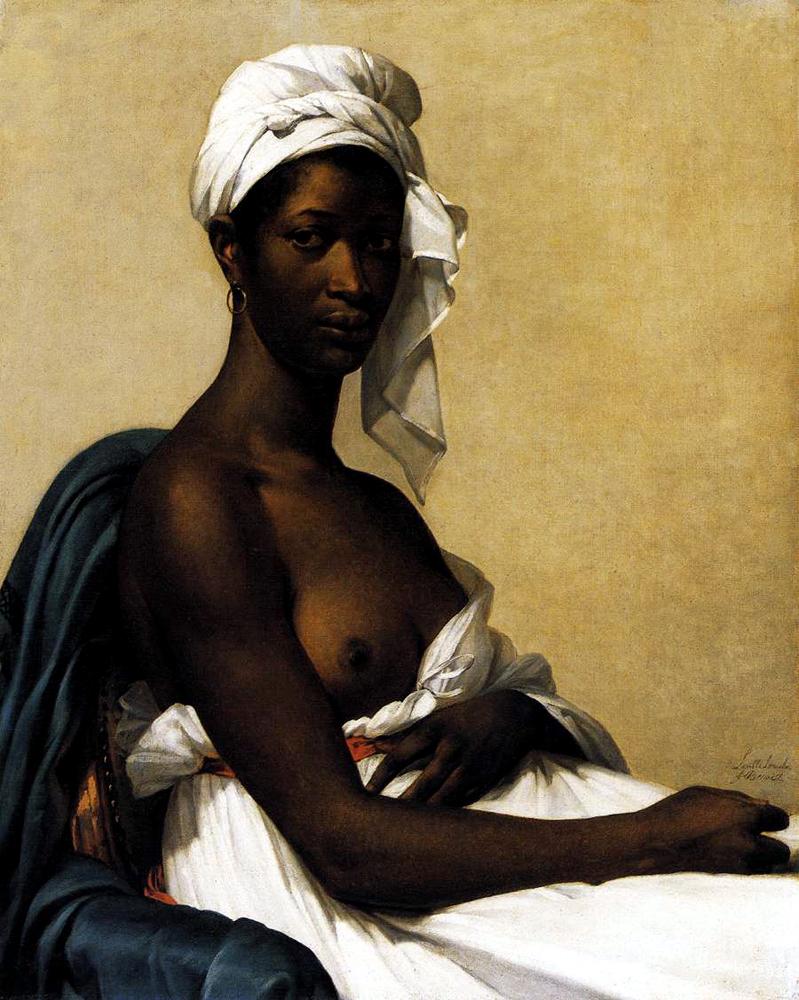 Portrait of a Negress by Marie-Guillemine Benoist. An historical antecedent to work by Barkley L. Hendricks.