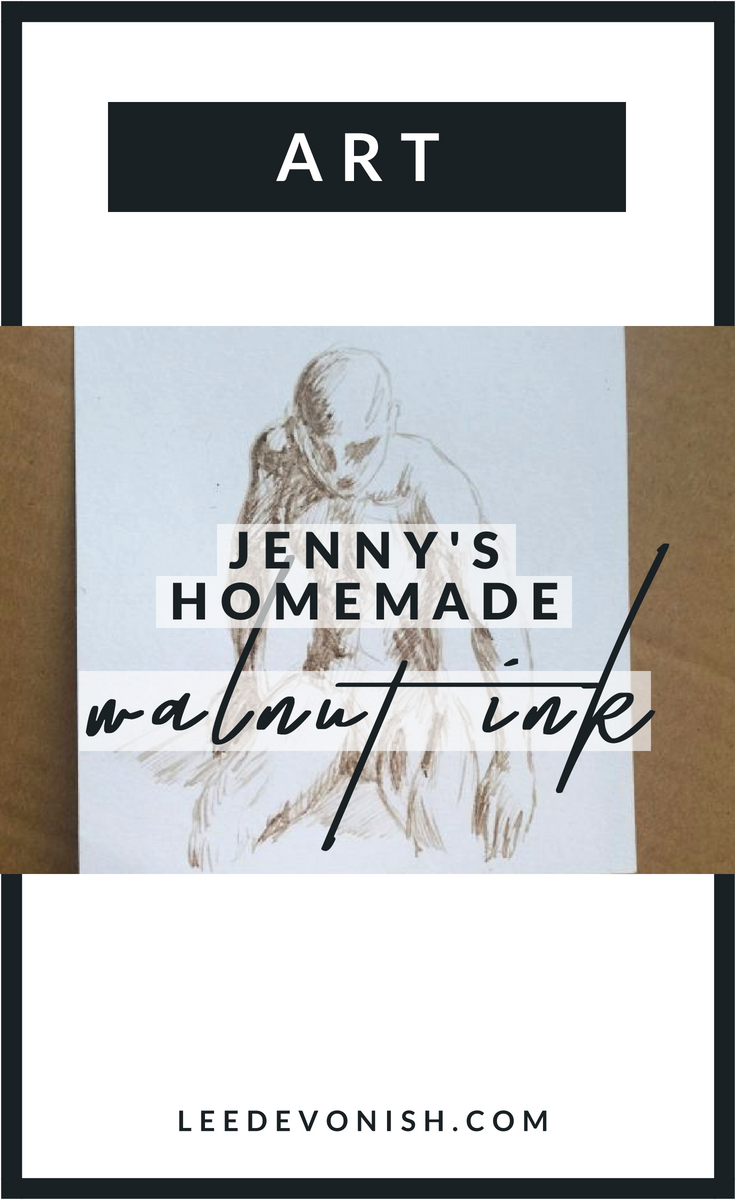 Jenny's homemade walnut ink - where to buy ingredients for making walnut ink.