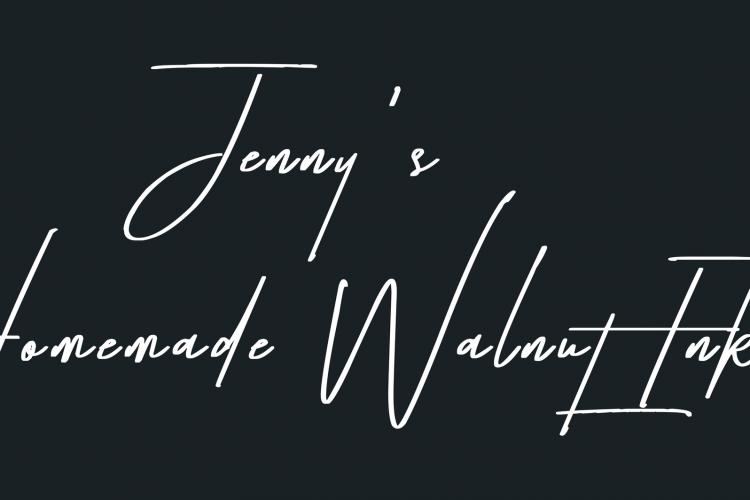 Self portrait done with Jenny's homemade walnut ink.