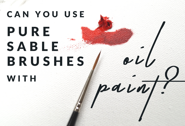 I use pure sable brushes for oil painting - here's my kit.