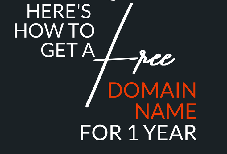 Here's an offer that gives you a free domain name for a year, along with a free SSL certificate, website builder and email!
