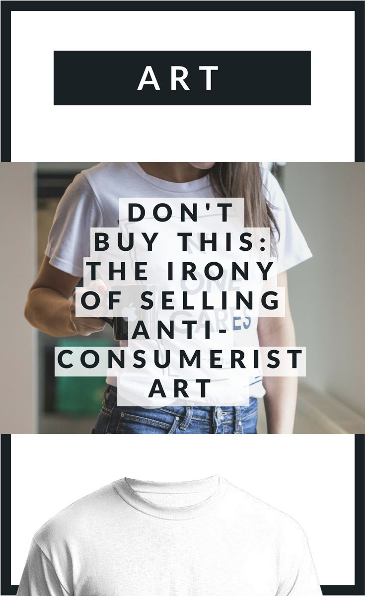 Selling anti-consumerist art is a paradox, but at least it's a funny one. This artwork makes me question my ideas of conceptual art and artistic agency.