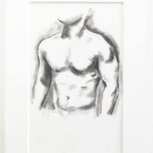 Muscle Study 3 - charcoal on paper drawing