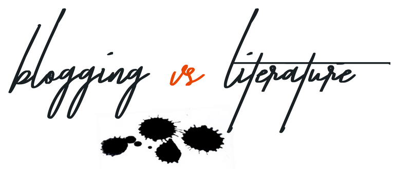 blogging vs literature