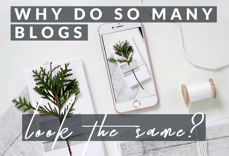 Why do so many blogs look the same? Exploring the visual language of blogging.