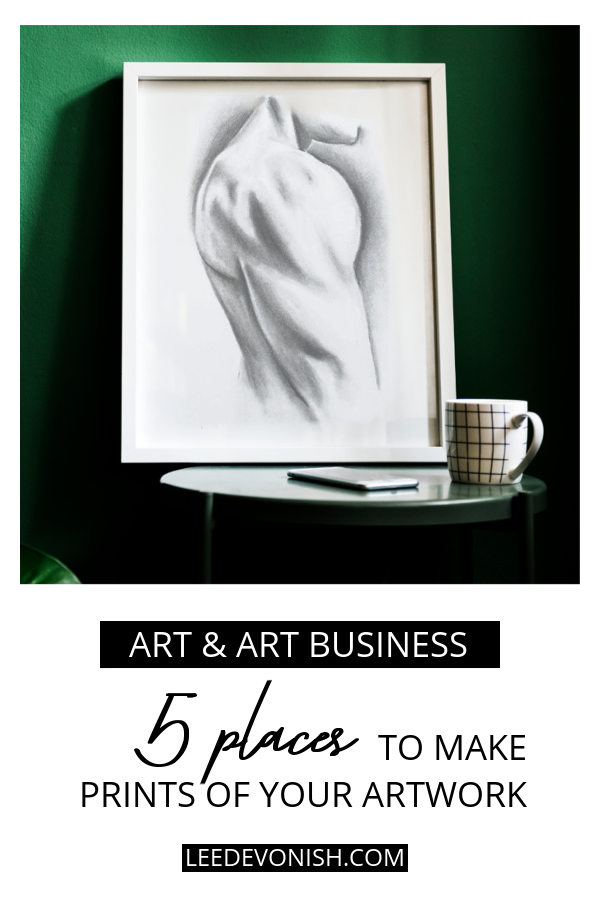 5 Places To Make Prints Of Your Artwork | Art print on table against green wall