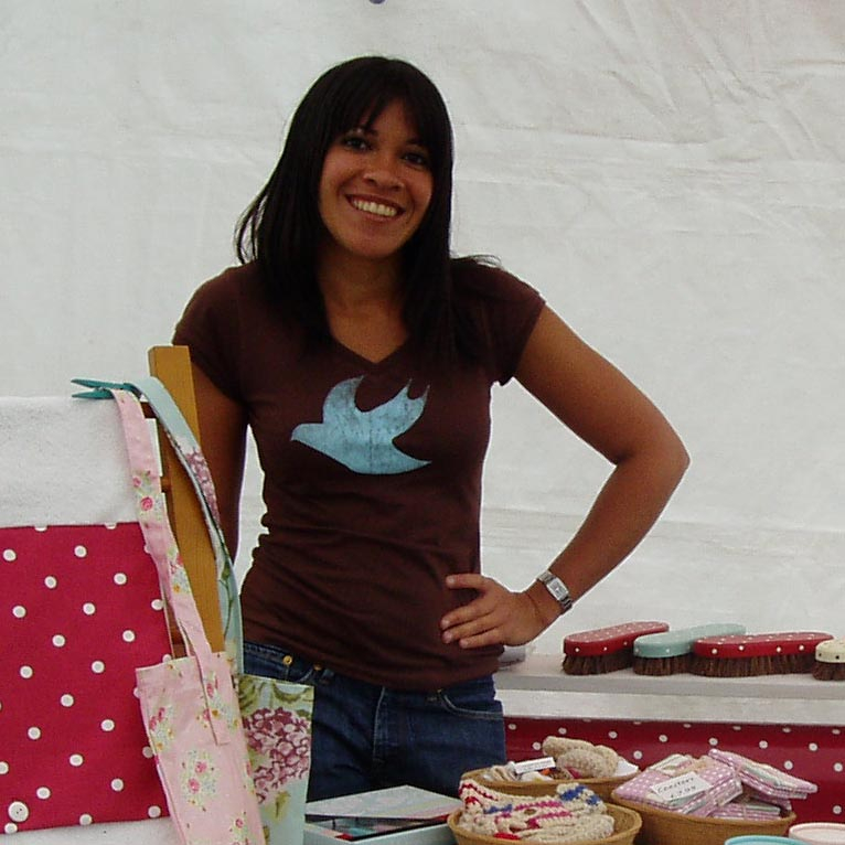 Lee at a craft fair in Kent, 2009