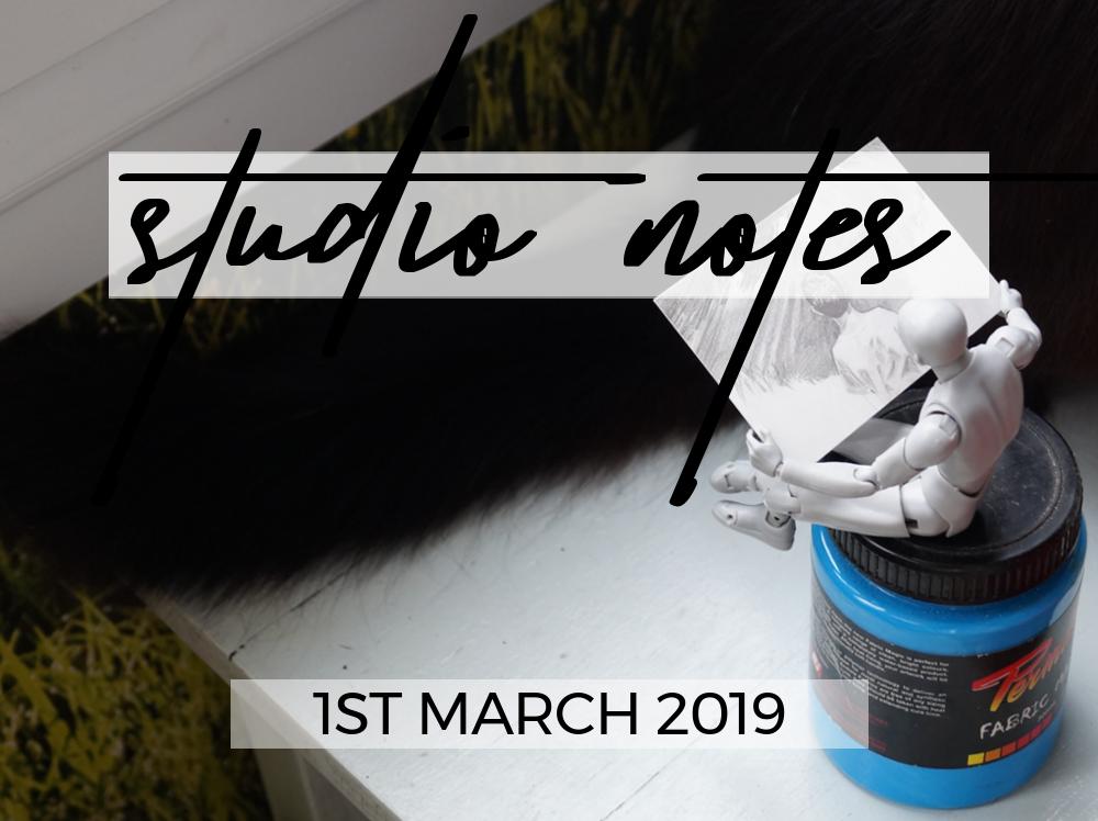 Studio Notes 01/03/19