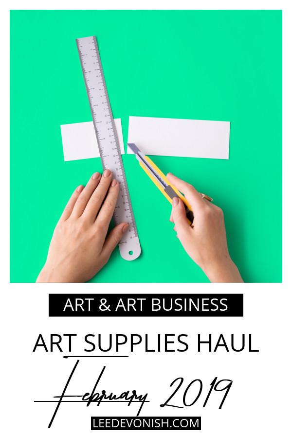 Art supplies haul February 2019