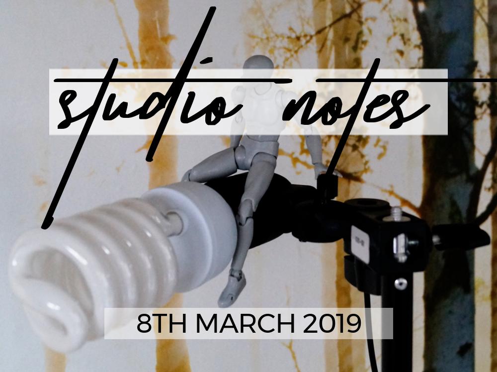 Studio Notes 08/03/19