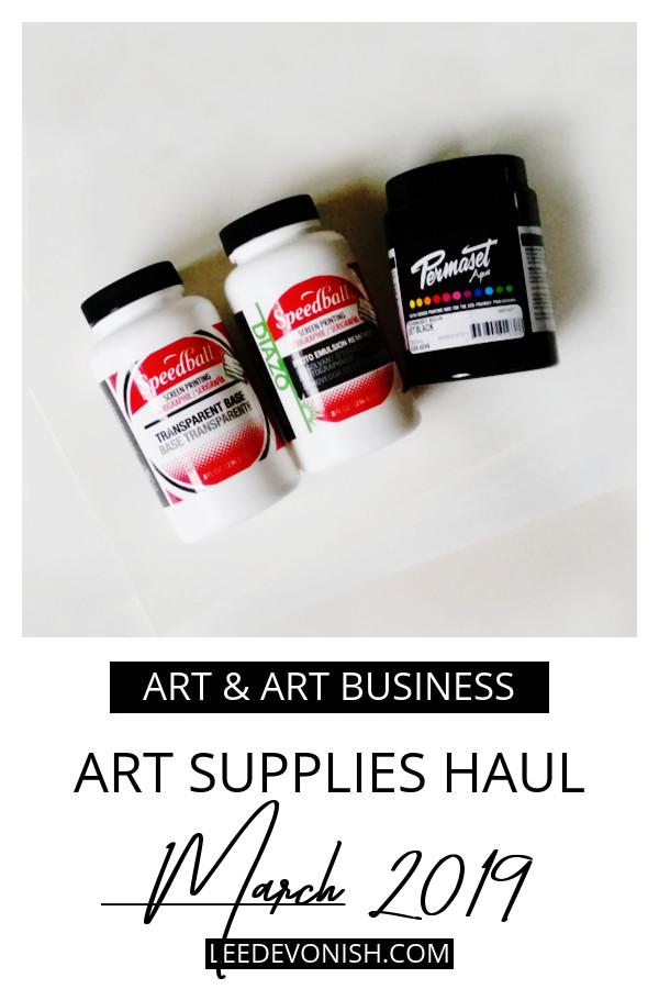 Art supplies haul March 2019