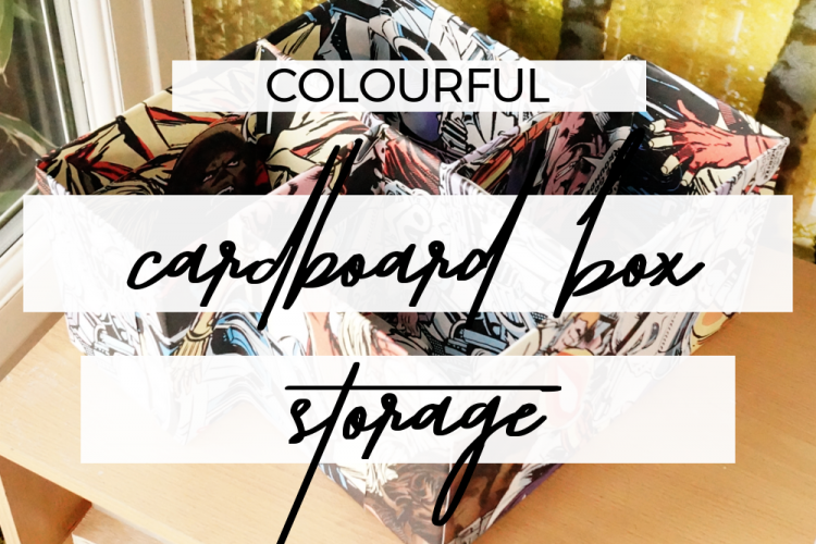 Colourful cardboard box storage ideas