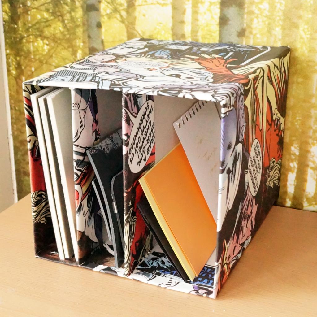 cardboard box filing system
