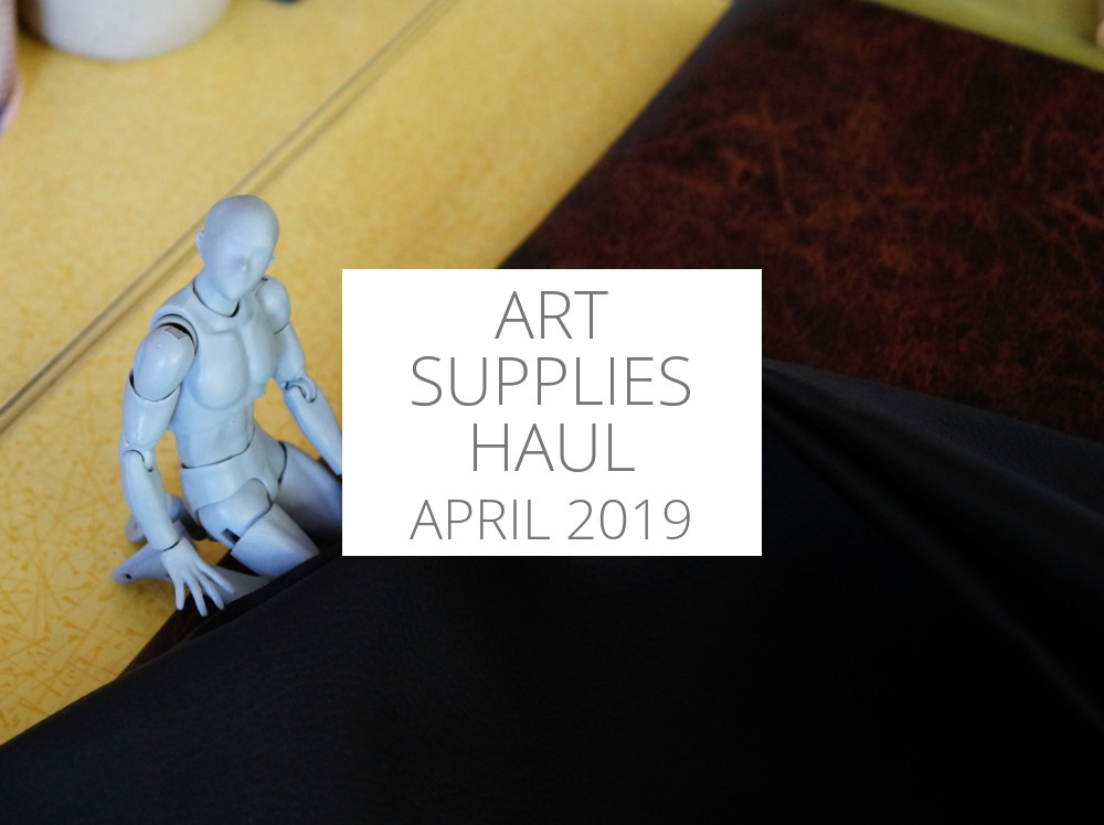 Art supplies haul April 2019