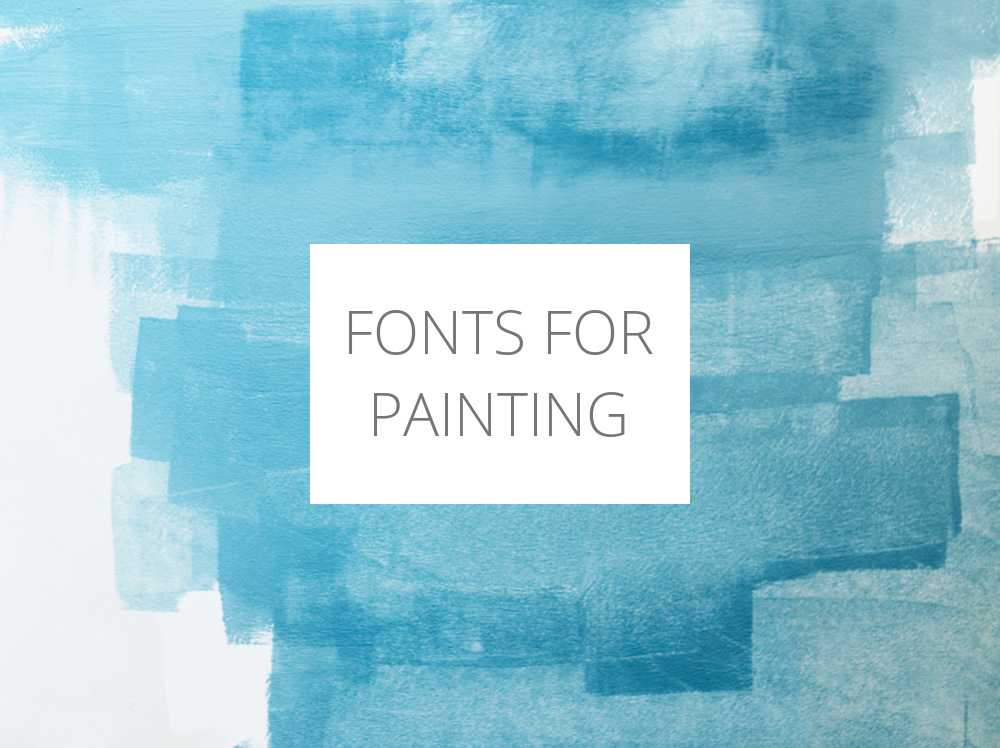 Fonts For Painting