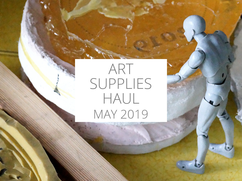 Art supplies haul May 2019