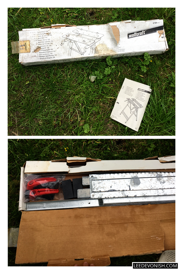 An unopened Wolfcraft 150 clamping table found in my shed.