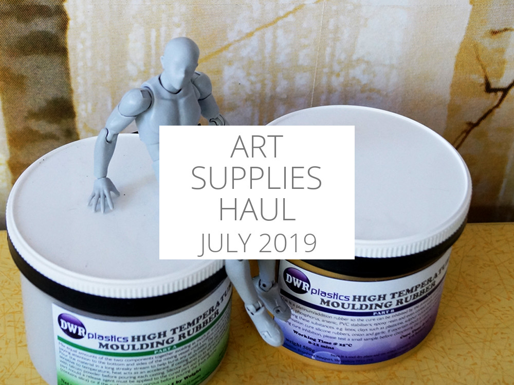Art supplies haul July 2019