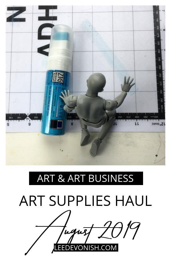 Art supplies haul August 2019