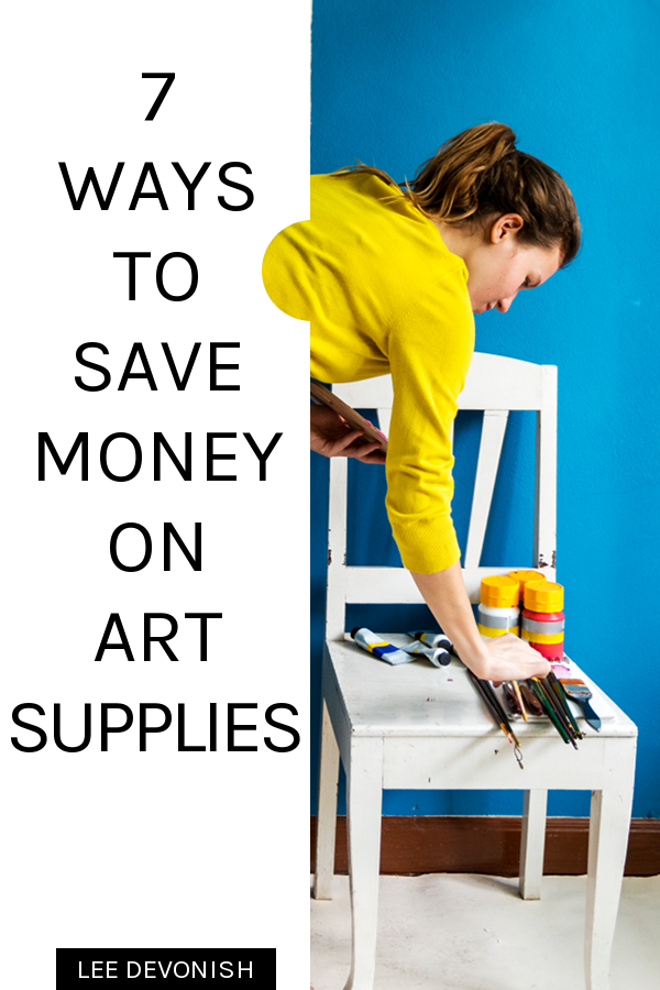 Seven ways to save money on art supplies.