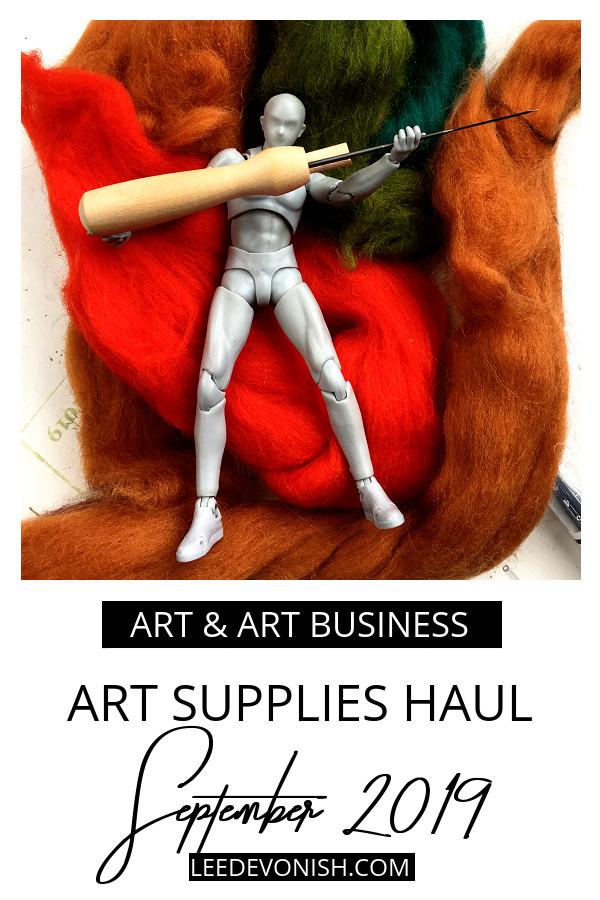Art Supplies Haul September 2019