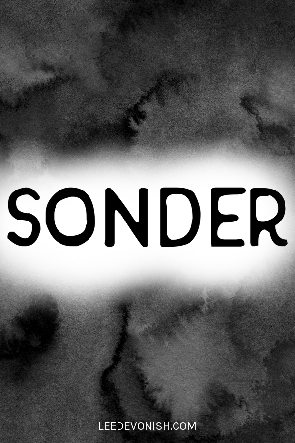 Sonder meaning and etymology