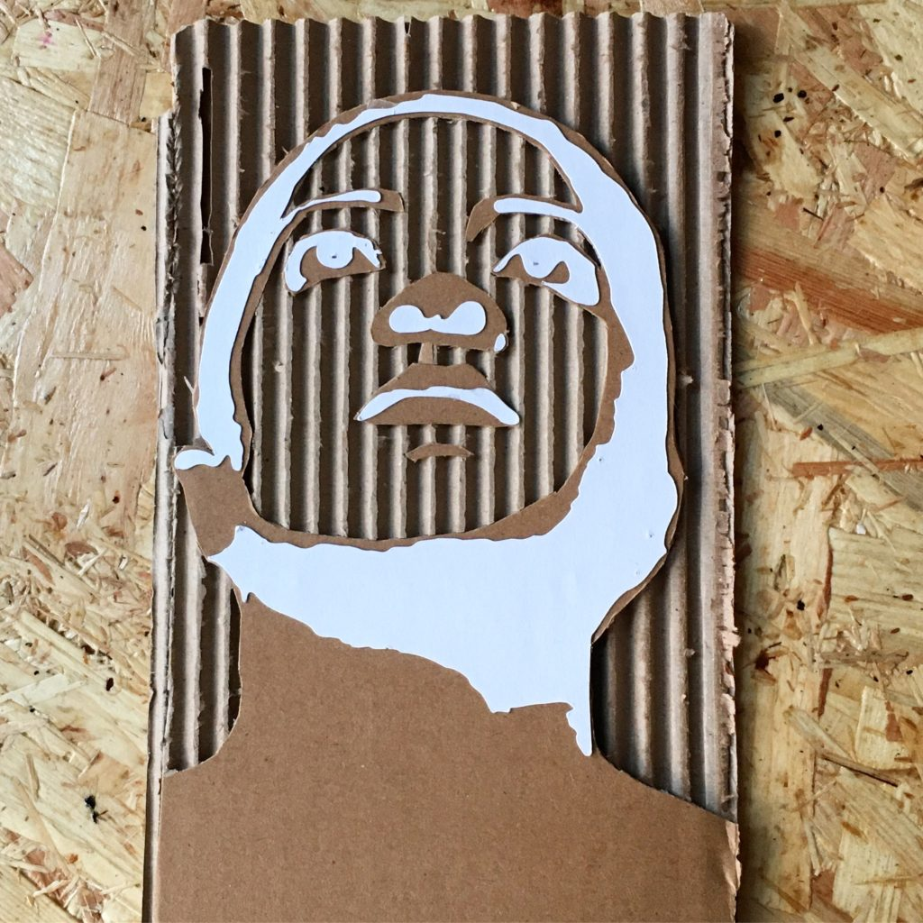 cardboard cut out portrait of the week