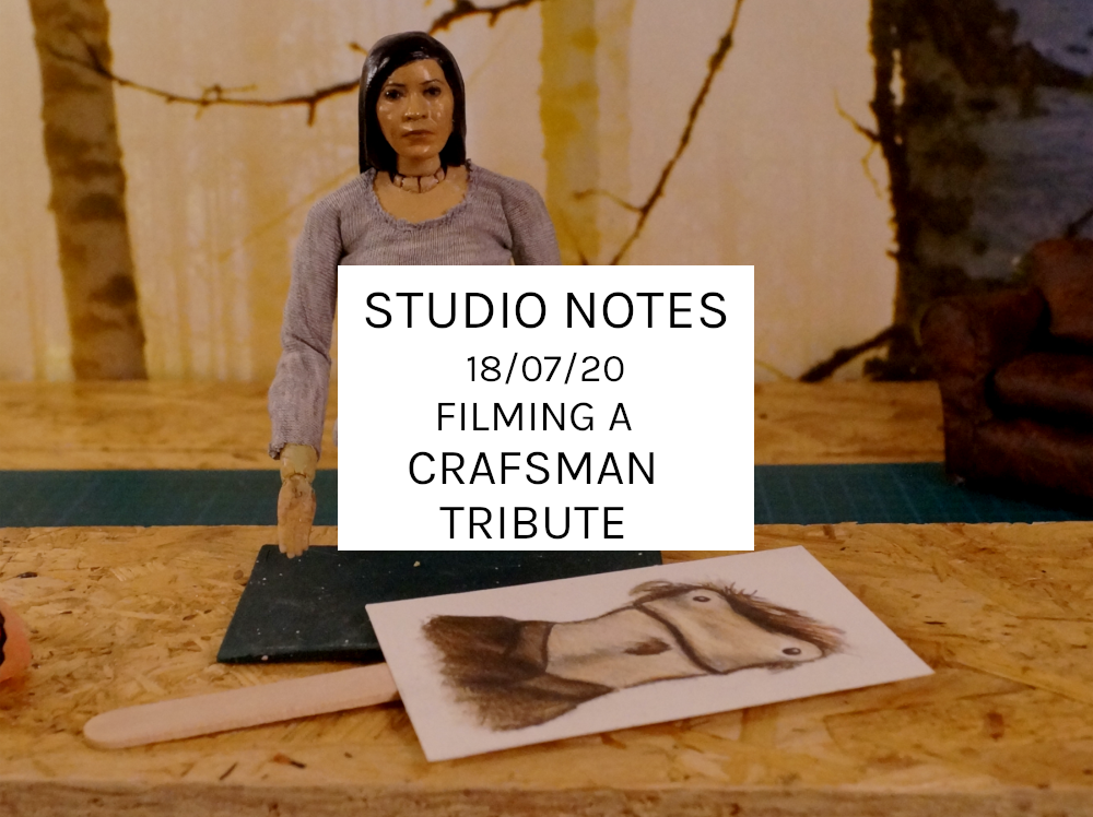 Studio Notes 18/07/20 – Filming A Crafsman Tribute